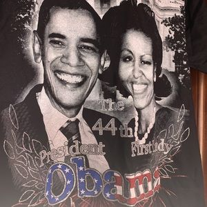 Michelle and Barack Obama Black Election T-shirt